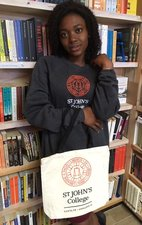 Sweatshirt in Gray with College Seal