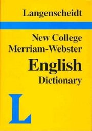 NEW COLLEGE WEBSTER ENGLISH
