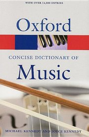 CONCISE OXFORD DICTIONARY OF MUSIC