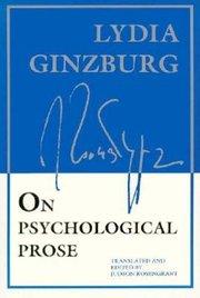 ON PSYCHOLOGICAL PROSE