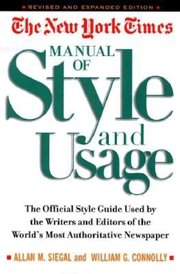 NYT MANUAL OF STYLE & USAGE